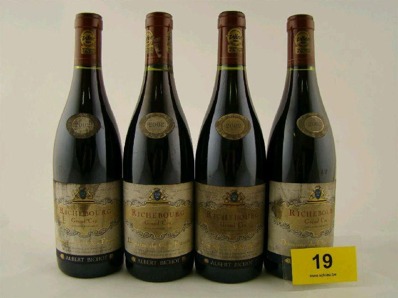 lot 19 de la vente aux ench res de d cembre 2014 8 x 2002 richebourg 39 domaine du clos frantin. Black Bedroom Furniture Sets. Home Design Ideas